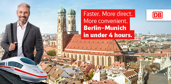 Berlin – Munich in under 4 hours